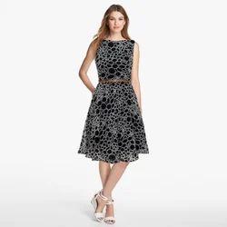 Georgette Dresses Stone Black Western Wear