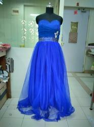 Electric Blue English Ball Gown