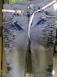 Blue Skinny Jeans, Waist Size: 28