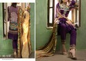 Cotton Embroidered And Printed Purple Colour Lawn Suits