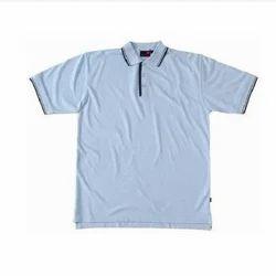 Men Cotton Plain White T-Shirt, Size: S-XXL