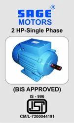 Cast Iron SAGE MOTORS Single Phase Motor ISI, Power: 2.6-5 hp
