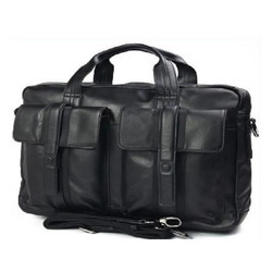 Mens Black Leather Laptop Bags