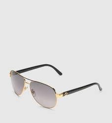 Women Aviator Black Glitter Sunglasses