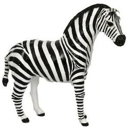 Leather Zebra Sculpture Chamde Ke Pashuon Ke Khilaune चमड