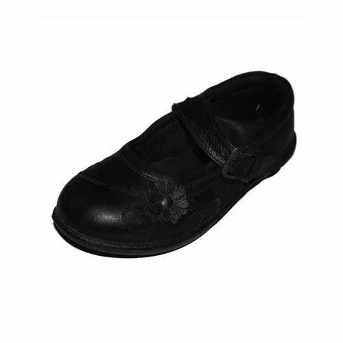 Redbird Black Kids Girl School Shoes