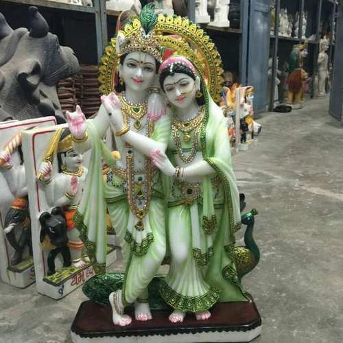 Krishna Statue Colored Radha Krishna Statue Of Makrana