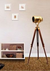 Antique Marine Low Floor Lamp - Studio Tripod Spotlight LED