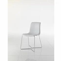 Sedia Vicky Bianca Piede A Slitta 2 Designer Chair