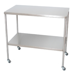Stainless Steel Instrument Table, For Hospital, 75l X 45w X 80h Cms