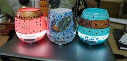 saudeep india Chargeable Battery Hand Painted Musical Pot Bluetooth Speaker, Size: Medium
