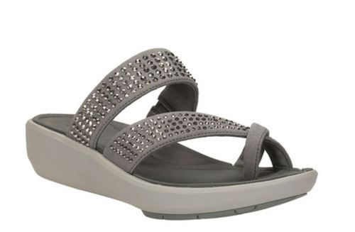 546d2612ad0f Wave Bright Silver Synthetic Women Sandal - Clarks Exclusive Shops ...