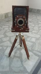 Old Time Retro Look Wooden Film Slide Camera Replica