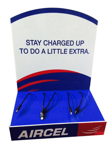 Acrylic Wall Mount Mobile Charging Unit - Aircel Model