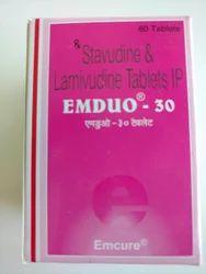 EMDUO 30  Stavudine & Lamivudine Tablet