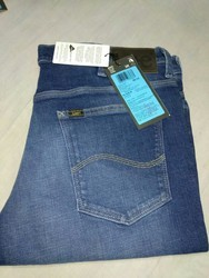 Cotton And Denim Plain And Faded Jeans, Waist Size: 34 And 36