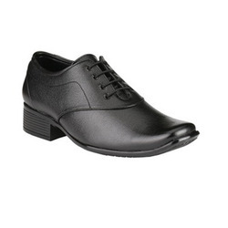 Mens Black Leather Shoes at Rs 500/pair