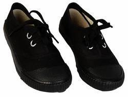 Canvas Black School Shoes