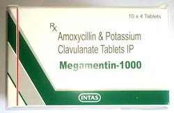 Megamentin Amoxcylin and Potassium Clauvlanate Clavulanate Tablets, 10 x 4