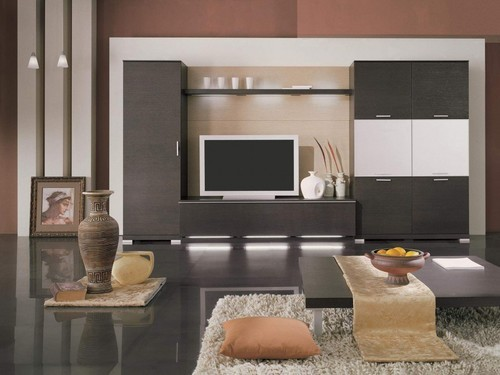 Modern LED TV Panel With Storage