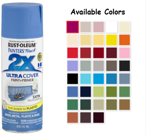 Rust Oleum Satin Spray Paint Colors Home Painting