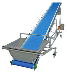 Stainless Steel Crate Conveyor System, Length: 20-40 feet
