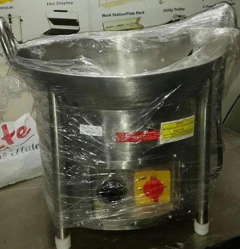 Commercial Kitchen Equipment Kadai Deep Fryer
