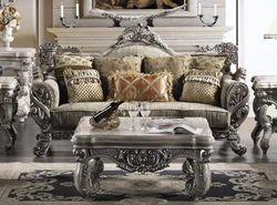 Masa Gaia Silver Wooden Sofa Set