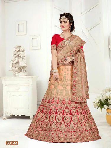1e8fb56425 Chanderi Ladies Bridal Lehenga Choli, Rs 4899 /piece, SHOPKART   ID ...