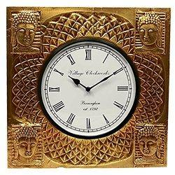 Square Buddha Wall Clocks
