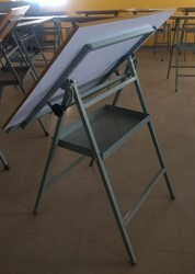 Mild Steel Silver Drawing Table, For School, Size: 3 Feet