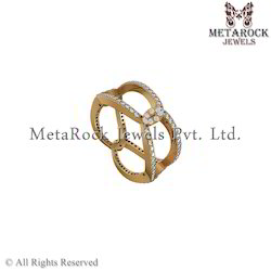 14k Yellow Gold Pave Diamond Ring