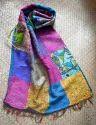 Kantha Stitch Silk Stole