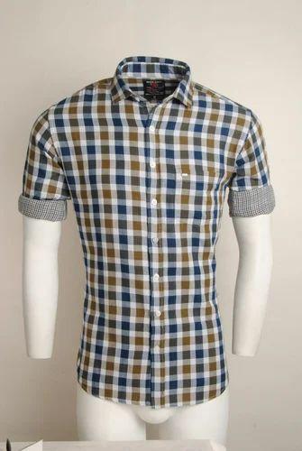 50f838d4c Men Cotton Checked Urban Design Casual Shirts, Size: M, L & LX, Rs ...