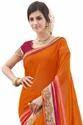 Orange & Pink Saree