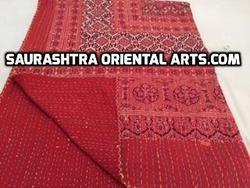 Ajrak Red Color Kantha Quilt