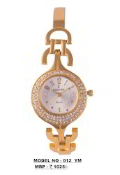 Ladies Golden Metal Watch