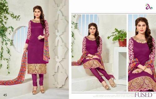 fb31c060fd Churidar Materials-chanderi Cotton Suit at Rs 950 /piece | Cotton ...