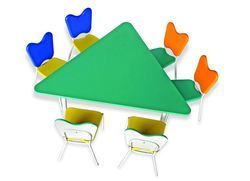 Triangle Table Chairs