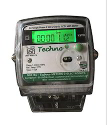 Techno Single Phase Electronic Energy Meter with LCD Display
