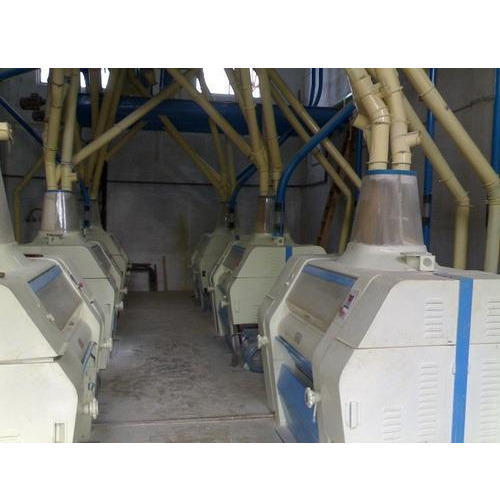 Mild Steel Industrial Flour Mill, 5 HP, Single Phase