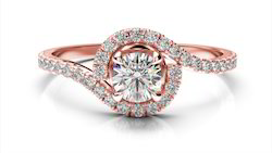Beautiful Real Diamond Rose Gold Engagement Ring