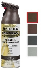 Rust Oleum Universal Flat Metallic Spray Paint