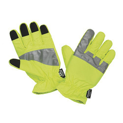 Light Green, Yellow Cotton Reflective Gloves