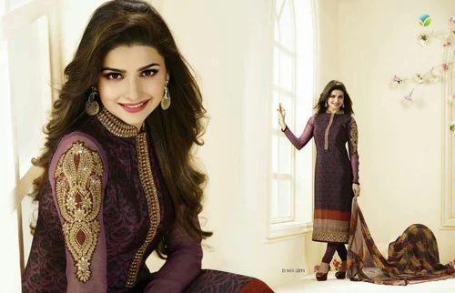 fb94124e4a Designer Crepe Salwar Suit,Designer Prachi Desai Suit, Designer ...