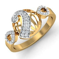 14k Hallmark Designer Gold Diamonds Ring