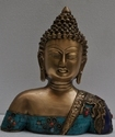 Lord Buddha Statue With Turquoise Stone Finish