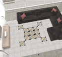 Black Designer Ceramic Floor Tiles
