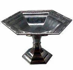 Silver Nickel Lining Shiny Platter