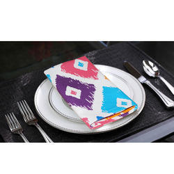 Lushomes Square Printed Cotton Napkins, Packaging Type: OPP Bag